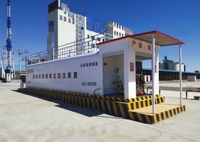 物流转运中心使用撬装加油站现场
